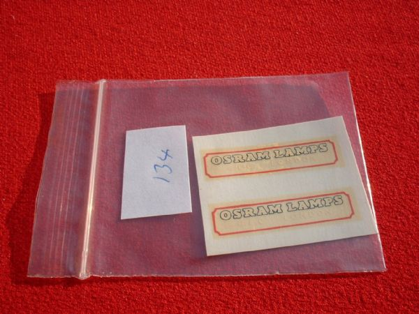 "Matchbox / Lesney / Yesteryear Y6 "" OSRAM LAMPS "" TRANSFERS / DECALS"